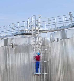 Aluminium Vertical Access Ladders Warehouse Ladders