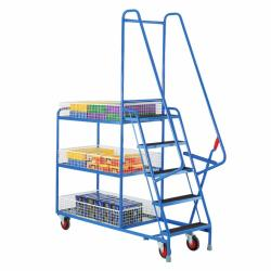 Heavy Duty Step Tray Trolley - 5 Steps