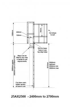 Vertical Access Ladder Kit Warehouse Ladder