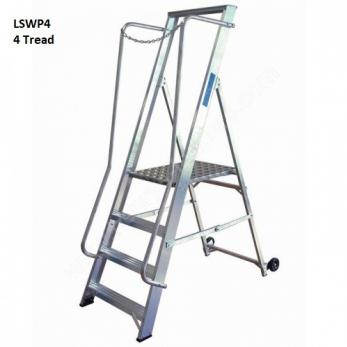 Extra Wide Step Ladders Aluminium Warehouse Ladder