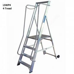 Extra Wide Step Ladders Aluminium - 380mm - NBSWP2