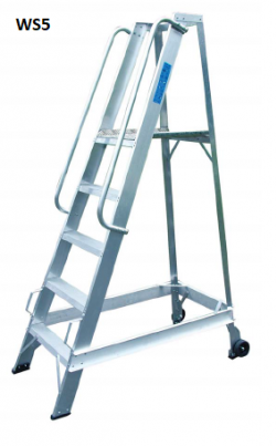 Lyte Aluminium Warehouse Step ladders - 1947mm - WS8