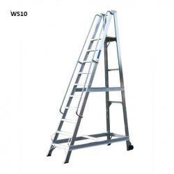 Lyte Aluminium Warehouse Step ladders - 3409mm - WS14