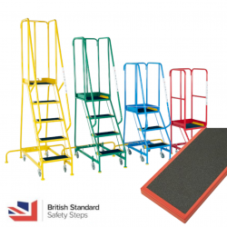 Steptek Narrow Aisle Steps - British Standard - Anti Slip Treads