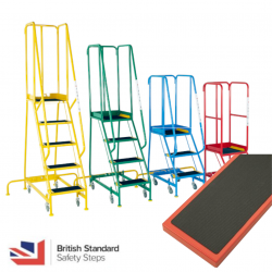 Steptek Narrow Aisle Steps - British Standard -Ribbed Rubber Treads