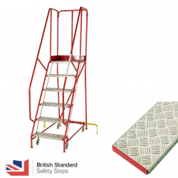 Premier Commercial Warehouse Steps - British Standard - Aluminium Treads