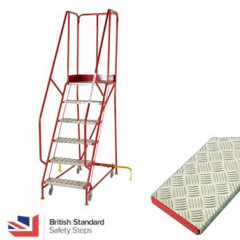 Premier Commercial Warehouse Steps - British Standard - Aluminium Treads Warehouse Ladder