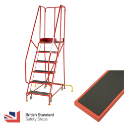 Premier Commercial Warehouse Steps - British Standard - Ribbed Rubber Treads