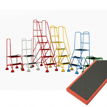 Mobile Safety Steps - Classic Plus Colour Range - Anti Slip Treads Warehouse Ladder
