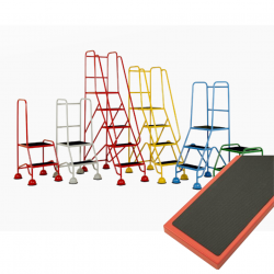 Mobile Safety Steps - Classic Plus Colour Range - Ribbed Rubber Steel Treads