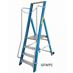 Fibreglass Step Ladders - Extra Wide - 380mm - NGFWP2