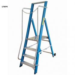 Fibreglass Step Ladders - Extra Wide - 830mm - NGFWP4