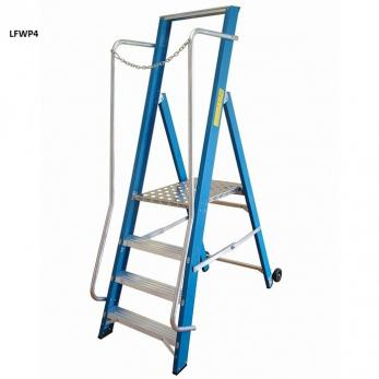Fibreglass Step Ladders - Extra Wide - 1710mm - NGFWP8 Warehouse Ladder