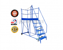 Heavy Duty Access Platform - Warehouse Ladder 500kg - 2500x995x2560 - KAP06DM