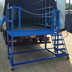 Lorry Trailer Mobile Unloading Platform with Steps
