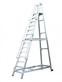 Lyte Aluminium Warehouse Step ladders - 2434mm - WS10