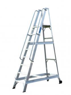 Lyte Aluminium Warehouse Step ladders - 973mm - WS4 Warehouse Ladder
