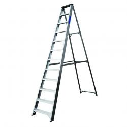 Lyte Industrial Aluminium Swingback Step Ladders with Tool Tray