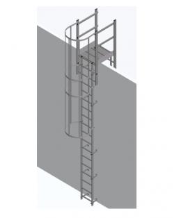 Aluminium Vertical Access Ladder Kits - Parapet Crossover