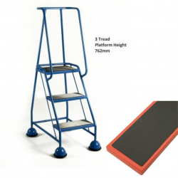 Steptek Classic Colour Dome Feet Steps -Ribbed Rubber Steel Treads