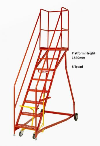 Steptek Quality Heavy Duty Warehouse Ladders Wide Base - BS EN 131 Certified  Warehouse Ladder