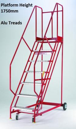 Steptek Quality Red Warehouse Ladders