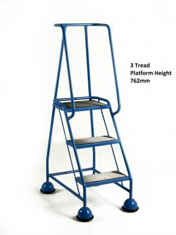 Steptek Classic Colour Dome Feet Steps -Ribbed Rubber Steel Treads Warehouse Ladder