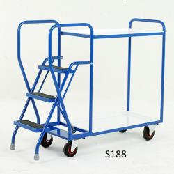 Heavy Duty Step Trollies - 1070x475x1325 - S188