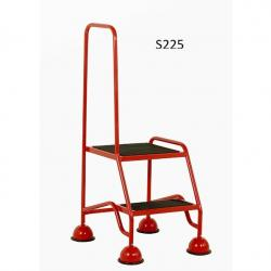 Warehouse Step Ladders - Classic Plus Colour Range - 1175x556x650 - S225 - Anti Slip Treads