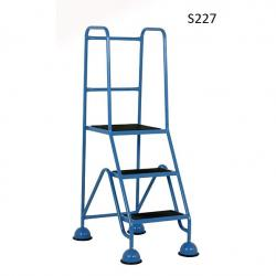 Warehouse Step Ladders - Classic Plus Colour Range - 1430x556x790 - S227 - Anti Slip Treads