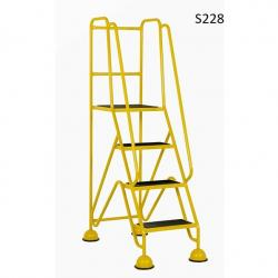 Warehouse Step Ladders - Classic Plus Colour Range - 1680x556x1005 - S228 - Anti Slip Treads
