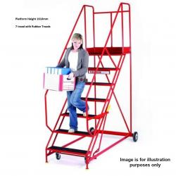 Steptek Easy Rise Warehouse Ladders - 2985x980x2200 - S615