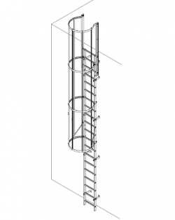 Aluminium Vertical Access Ladder Kits- Fixed with Hoops