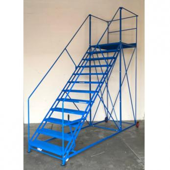 TekA Step Easy Slope Safety Steps Extra Wide - 2677x1200x2050 - TS4580 Warehouse Ladder
