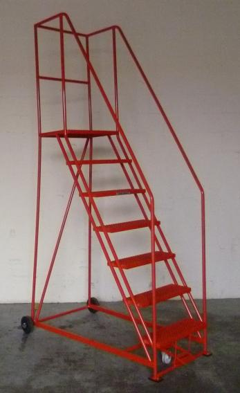 TekA Step Foot Lock Mobile Safety Steps  Warehouse Ladder