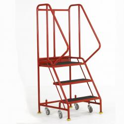 Premier Commercial Warehouse Steps - British Standard - Aluminium Treads Warehouse Ladder