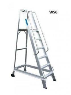 Lyte Aluminium Warehouse Step ladders - 1460mm - WS6